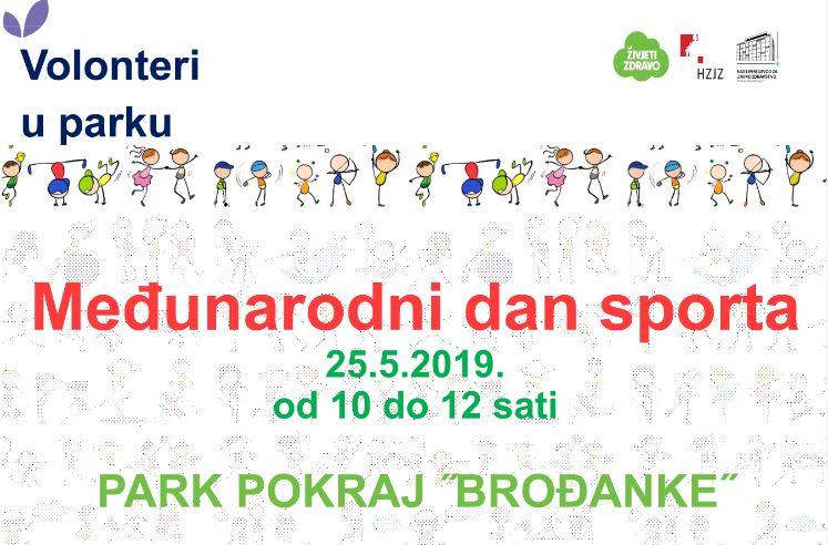 Volonteri u parku – Međunarodni dan sporta