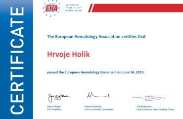Još jedan specijalist položio Europski ispit, ovaj put iz hematologije