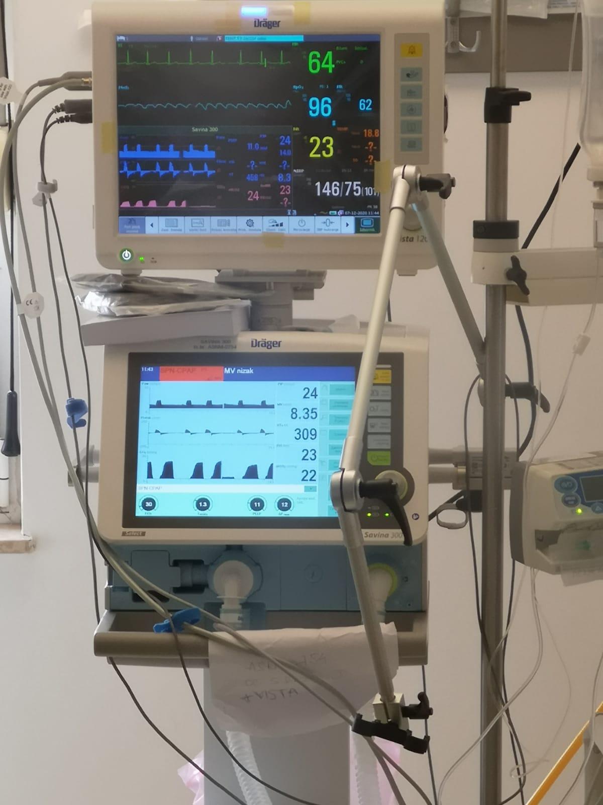 Dodatno opremanje Jedinice intenzivnog liječenja (JIL) za COVID-19 pacijente